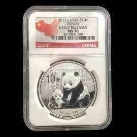 2012年1盎司熊猫银币NGC70级