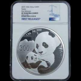 2019年1公斤熊猫银币NGC70级