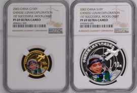 2003年中国首次载人航天飞行成功彩金银币