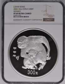 2004年公斤猴银币