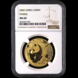 2002年1盎司熊猫金币