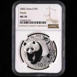 2002年1盎司熊猫银币
