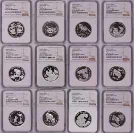 1988-1999年1盎司生肖银币