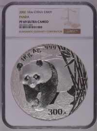 2002年1公斤熊猫银币