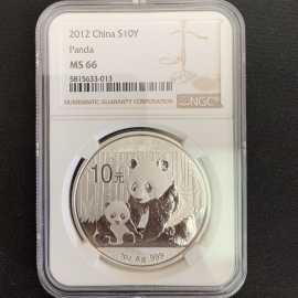 2012年1盎司熊猫银币