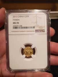 2013年1/20盎司熊猫金币