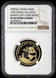 1993年1/2盎司慕尼黑国际硬币展金章
