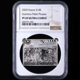 2020年法国毕加索画作格尔尼卡银币