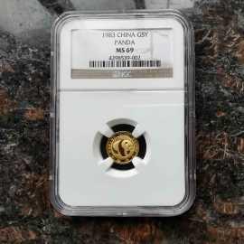 1983年1/20盎司熊猫金币