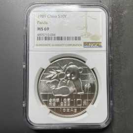 1989年1盎司熊猫银币