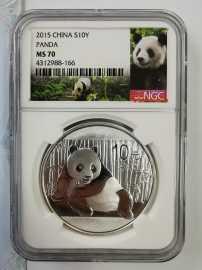 2015年1盎司熊猫银币