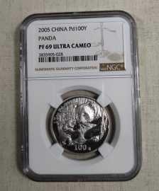 2005年1/2盎司熊猫钯币