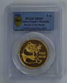 1982年1盎司熊猫金币