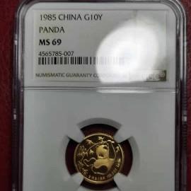 1985年1/10盎司熊猫金币