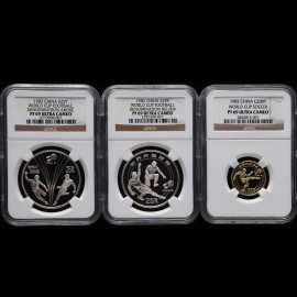 1982年1/4盎司第12届世界杯足球赛金币