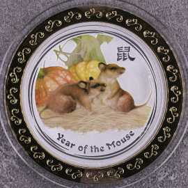 2008年澳大利亚1盎司生肖鼠彩银币
