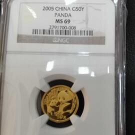 2005年1/10盎司熊猫金币